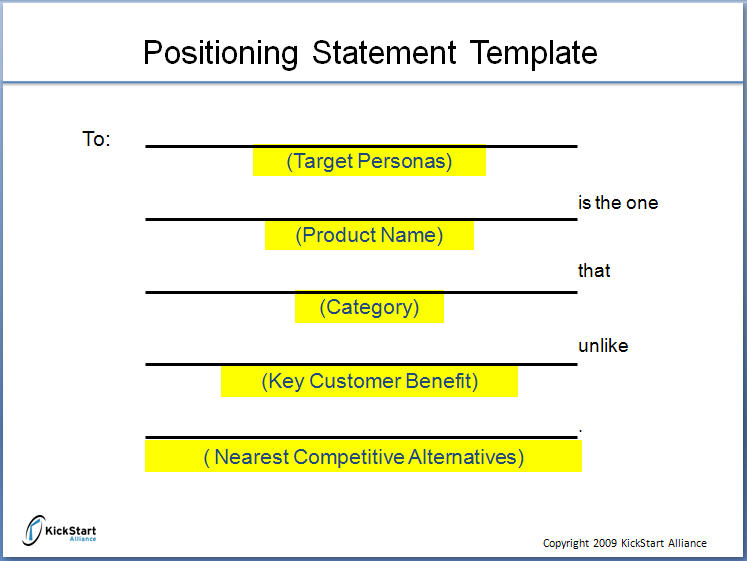 How The Positioning Statement Exercise Saved A Company S